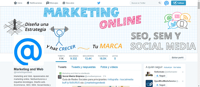 twitter de marketing and web