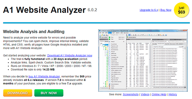 a1 website analyser