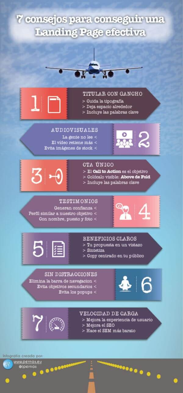 landing pages 7 consejos