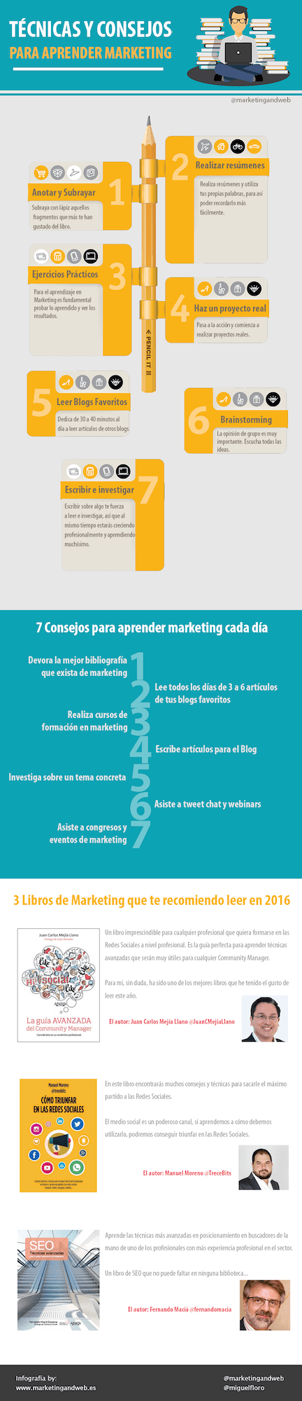 técnicas de estudio aprender marketing infografia