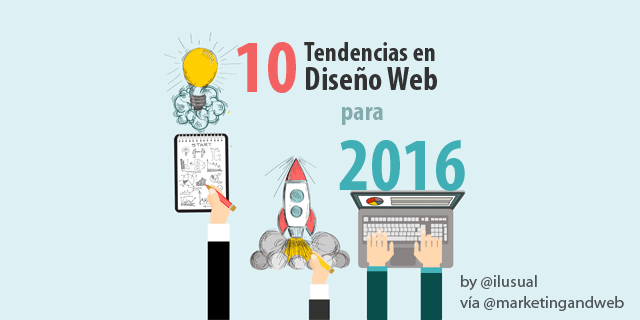 10 Tendencias en Diseño Web para 2016 + Ejemplos