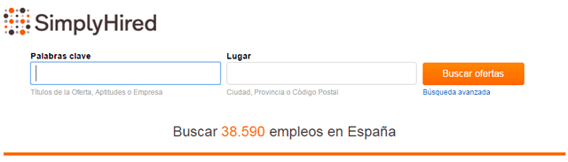 pagina trabajo simply hired
