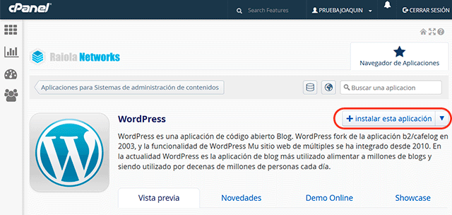 instalar wordpress raiola networks