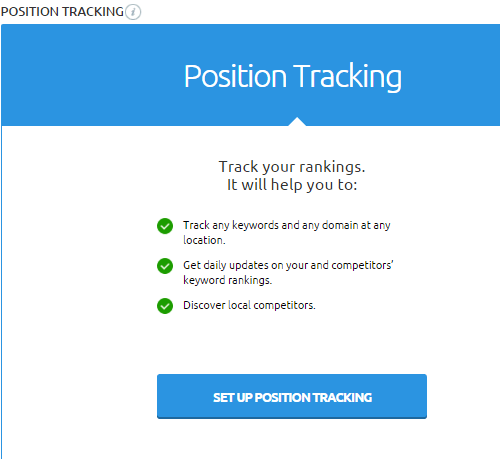 position tracking azul