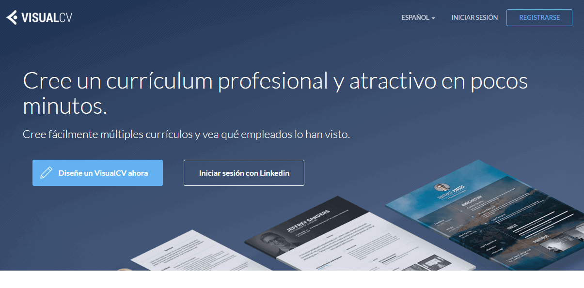 crear curriculum online visual cv