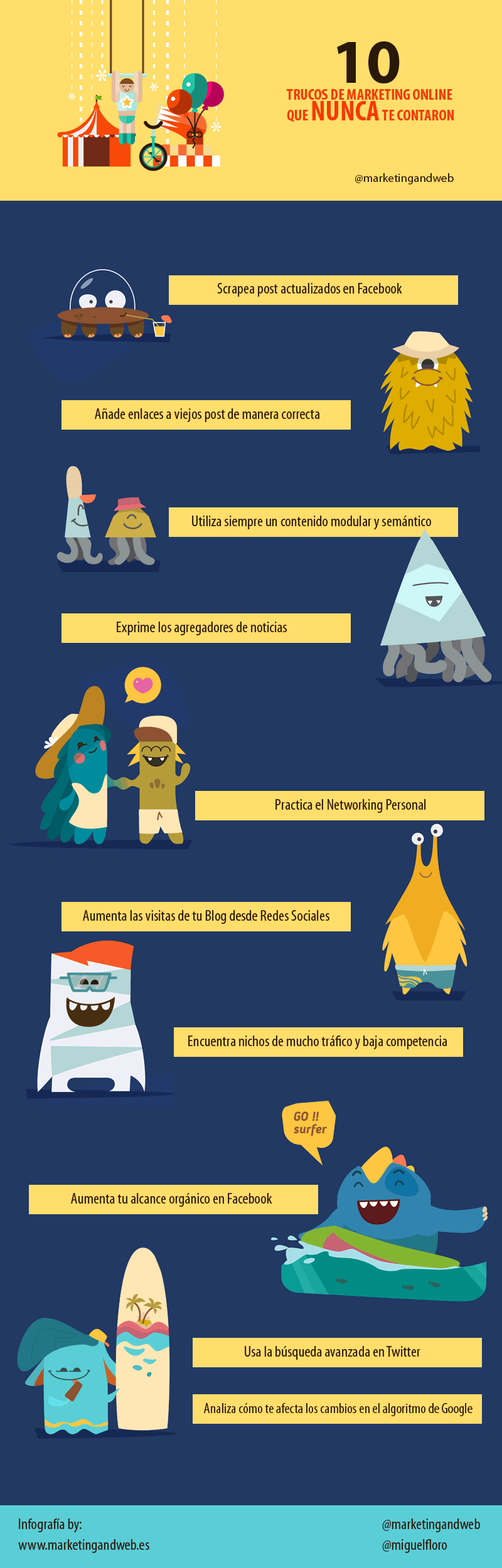 trucos marketing online infografia