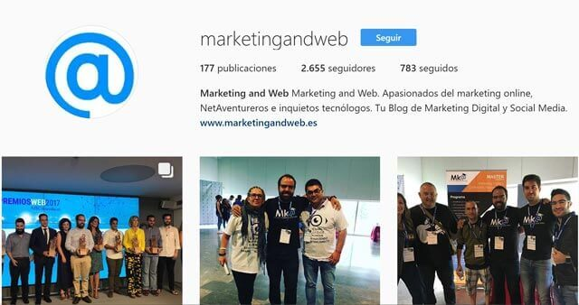 instagram marketing and web