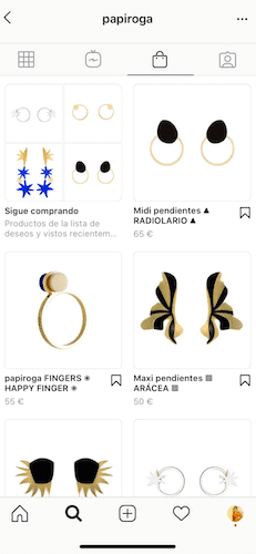 catalogo de productos en instagram